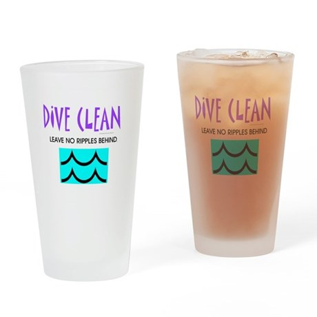 Dive Clean Drinking Glass