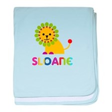 Sloane the Lion baby blanket