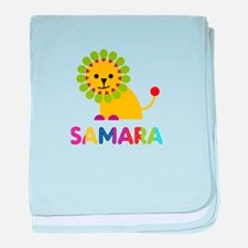 Samara the Lion baby blanket