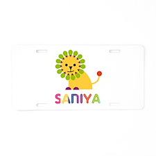 Saniya the Lion Aluminum License Plate