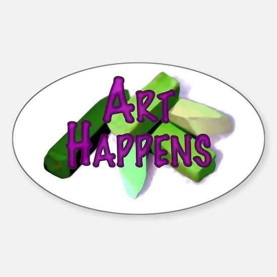 Art Happens (Pastels) Sticker (Oval)