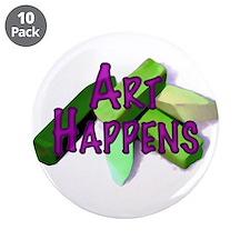 """Art Happens (Pastels) 3.5"""" Button (10 pack)"""