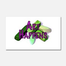 Art Happens (Pastels) Car Magnet 20 x 12
