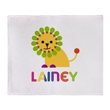 Lainey the Lion Throw Blanket