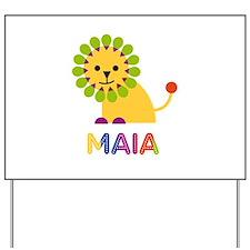 Maia the Lion Yard Sign