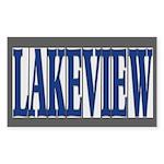 Lakeview Sticker (Rectangle 10 pk)