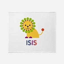 Isis the Lion Throw Blanket
