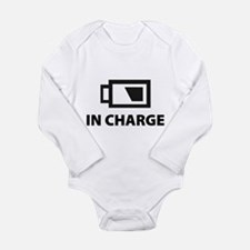 IN CHARGE Long Sleeve Infant Bodysuit