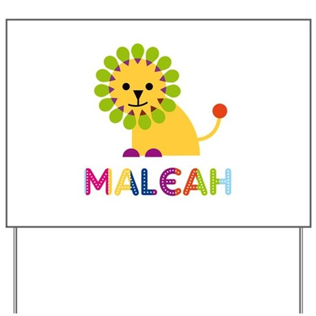 Maleah the Lion Yard Sign