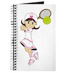Cute Tennis Girl Journal