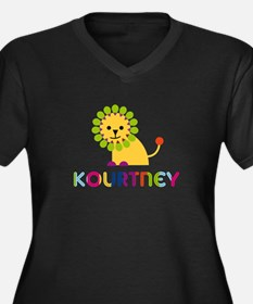 Kourtney the Lion Women's Plus Size V-Neck Dark T-