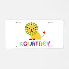 Kourtney the Lion Aluminum License Plate