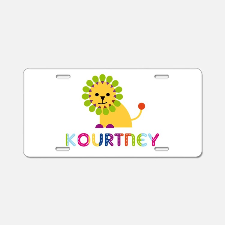 Kourtney the Lion Aluminum License Plate