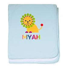 Myah the Lion baby blanket