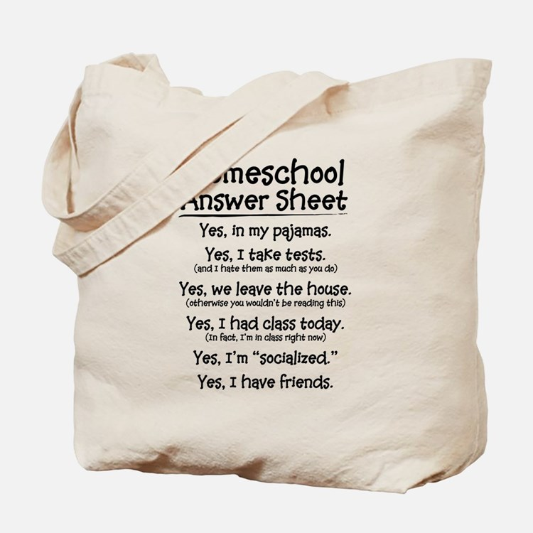 Homeschool Answers Tote Bag