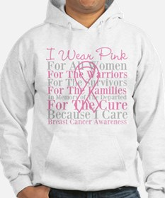 I Wear Pink Breast Cancer Jumper Hoody