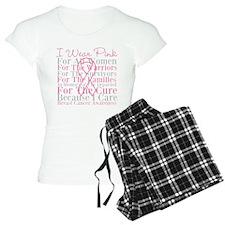 I Wear Pink Breast Cancer Pajamas