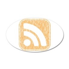 RSS Icon Weathered 22x14 Oval Wall Peel