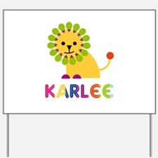 Karlee the Lion Yard Sign