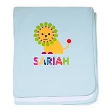 Sariah the Lion baby blanket
