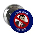 Parents Against Chris Christie button