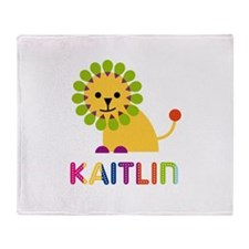 Kaitlin the Lion Throw Blanket