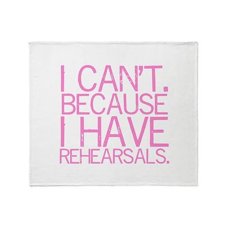 Rehearsals (pink) Throw Blanket