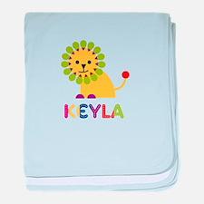 Keyla the Lion baby blanket
