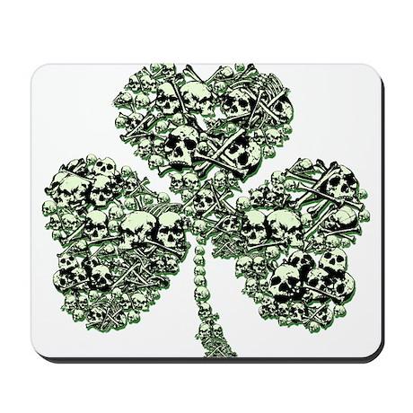 St Patricks Day Skulls Mousepad