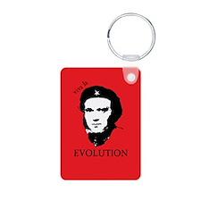 Red Darwin. Viva! Aluminum Photo Keychain