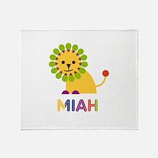 Miah the Lion Throw Blanket