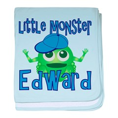 Little Monster Edward baby blanket