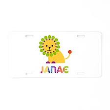 Janae the Lion Aluminum License Plate