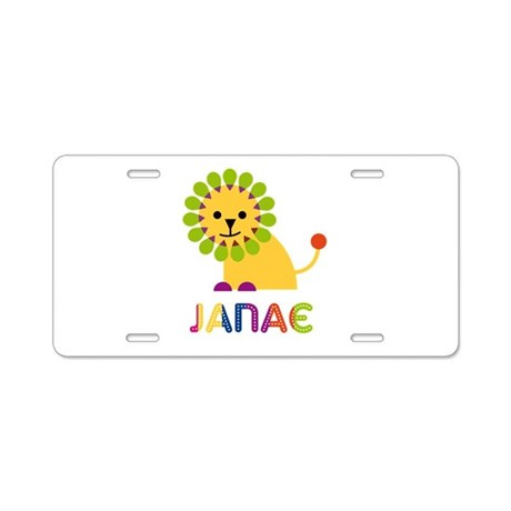 Janae the Lion Aluminum License Plate