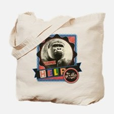 Help the Endangered Gorillas Tote Bag