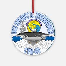 CVN-69 Persian Gulf Ornament (Round)