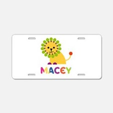 Macey the Lion Aluminum License Plate