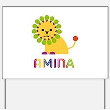 Amina the Lion Yard Sign