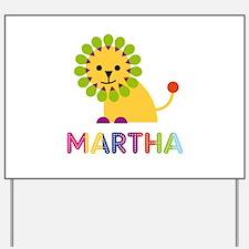Martha the Lion Yard Sign