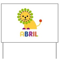 Abril the Lion Yard Sign