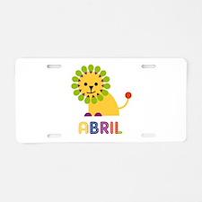 Abril the Lion Aluminum License Plate