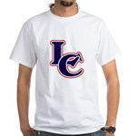 LC Logo in Navy and Red White T-Shirt