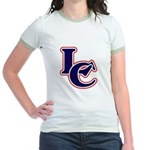 LC Logo in Navy and Red Jr. Ringer T-Shirt