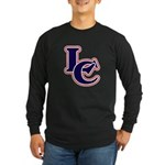 LC Logo in Navy and Red Long Sleeve Dark T-Shirt