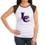 LC Logo in Navy and Red Women's Cap Sleeve T-Shirt
