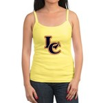 LC Logo in Navy and Red Jr. Spaghetti Tank