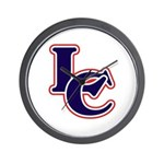 LC Logo in Navy and Red Wall Clock
