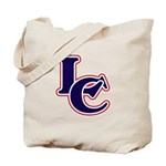 LC Logo in Navy and Red Tote Bag