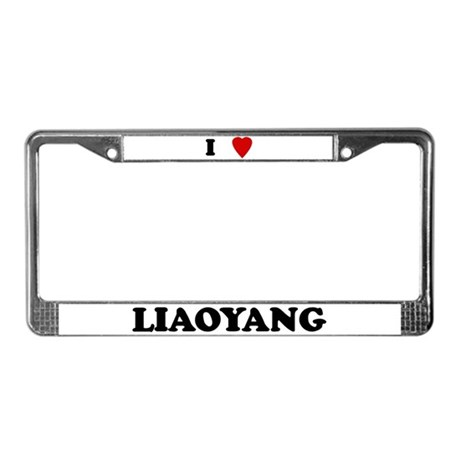 I Love Liaoyang License Plate Frame
