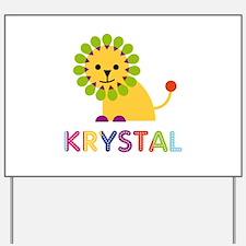 Krystal the Lion Yard Sign